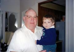 Grandpa Mac holding Baby Aaron
