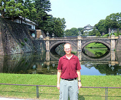 On his day off Mike toured the ground of the Emperor's palace