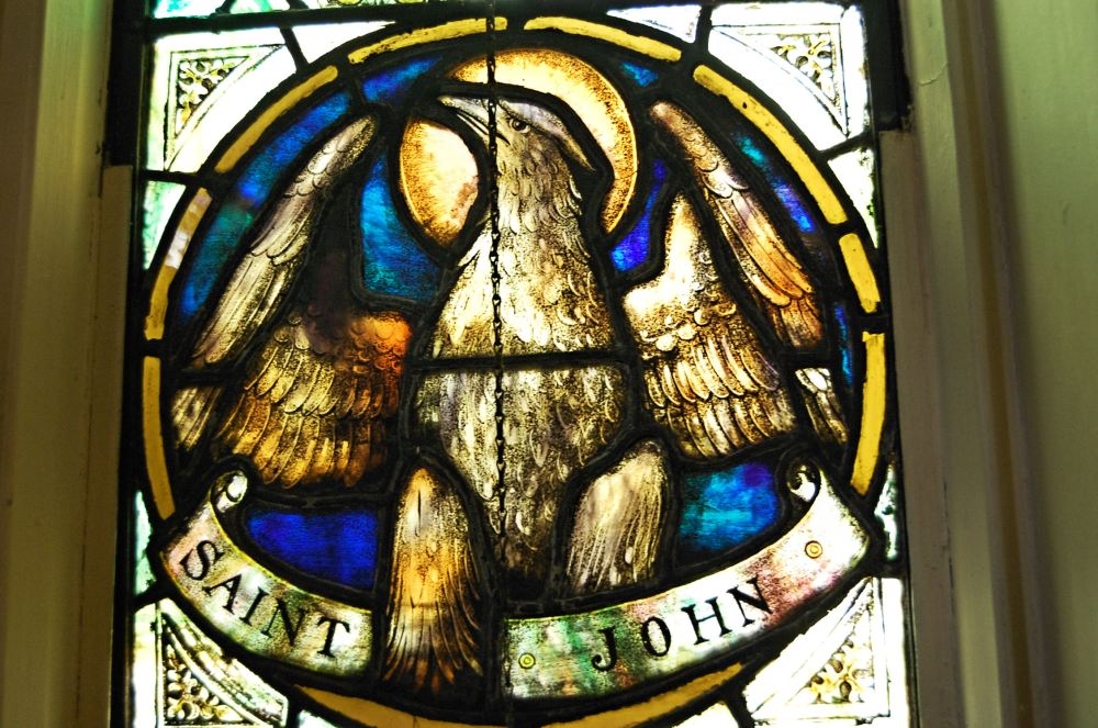 an eagle representing John the Baptist