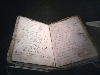 Photo of a Civil War doctor's notes in a journal