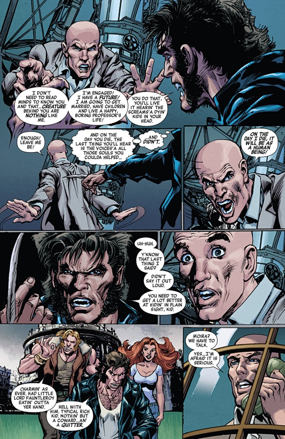 First X-Men scene where Xavier reads Wolverine's mind without realizing it