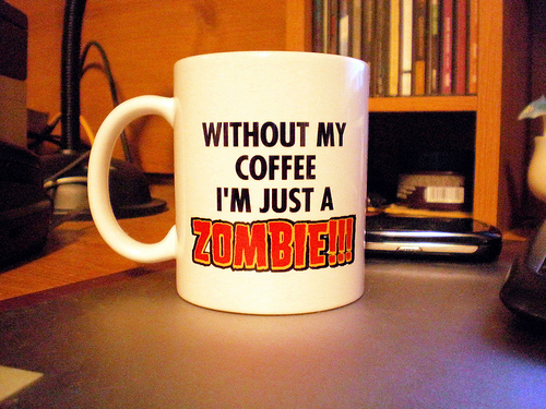 Without My Coffee I'm Just A Zombie mug