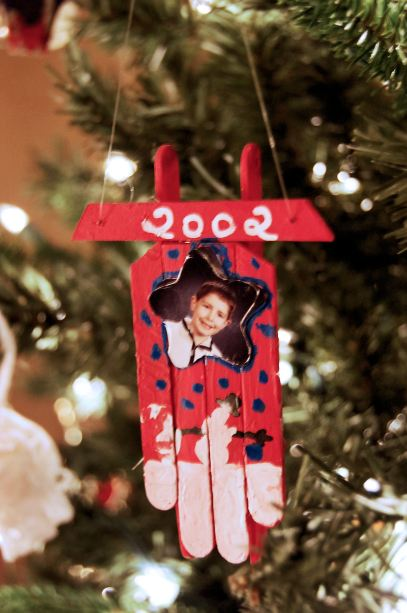 An ornament Aaron made for me when he was in elementary school.