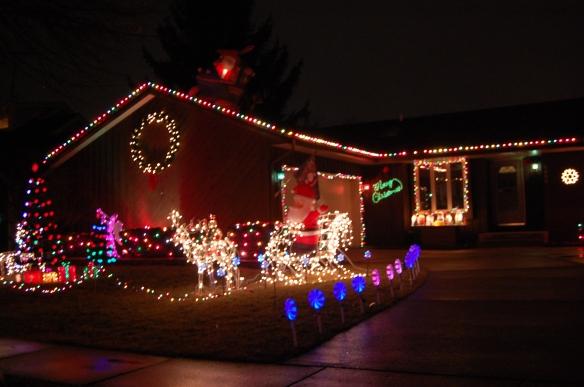 Santa and his light reindeer!