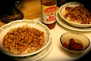 New Year's Day Lunch 2009 - Traditional Hoppin' John by Judy Baxter aka Old Shoe Woman on Flickr. Used under Creative Commons 2.0 Attribution, Non Commercial, Share Alike License granted.