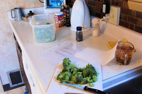 My start on the broccoli salad.