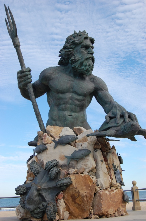 King Neptune of Virginia Beach is their trademark.  He stands looking from the sea to the tourists.