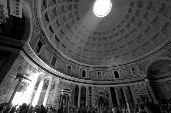 Pantheon interior by  Ames Lai.  Used under the Creative Commons 2.0 Attribution, non commerical, no dervis license granted.