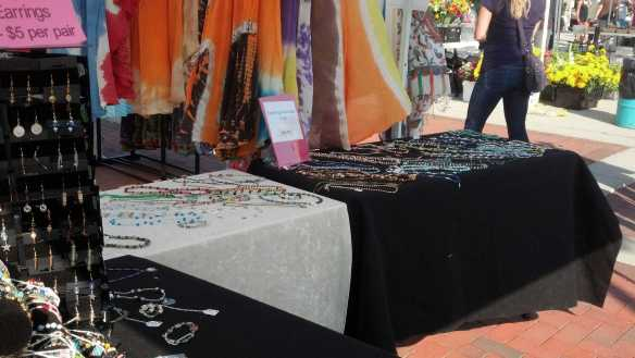 Here's a bit of our craft booth we had at Harbor Market in Kenosha, WI every Saturday in September.