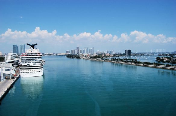 Departing Port of Miami by me.