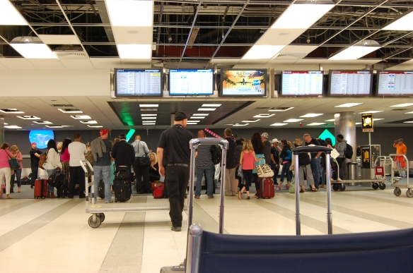 Ft. Lauderdale Baggage claim.  (photo mine)
