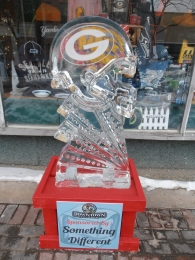 Did I mention it was a nasty winter here?  It was and we did all we could to make the best of it.  Ice sculpture contests and such.