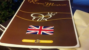 English menus were really English complete with the Union Jack.