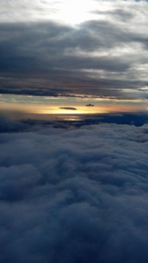 The sunset shows why the Amafi Coast is called the golden coast as we flew in.