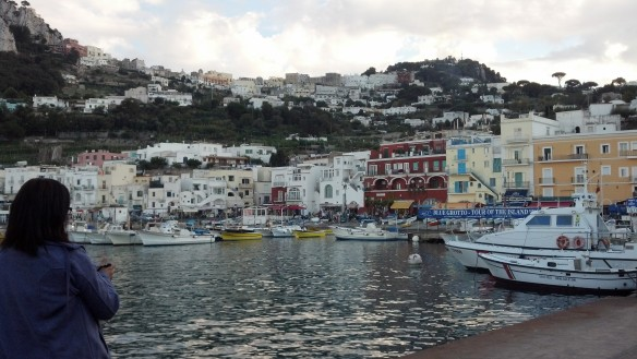 Capri and Anacapri from the port  Photo by me.