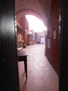 "View through the closed gates of the Red Museum on a ""freddo"" morning.  Photo by me"