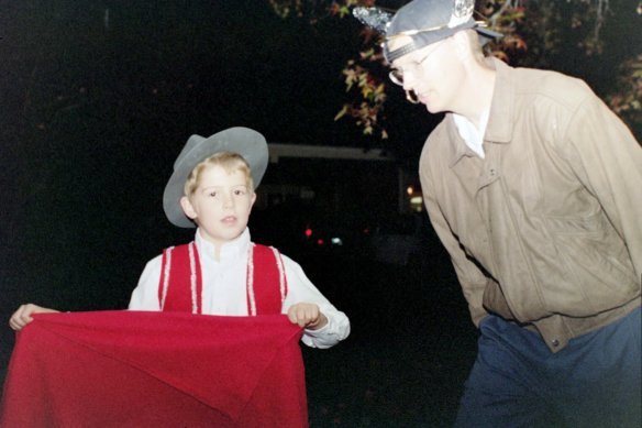 Aaron as a Bullfighter Mike as the Bull 1999