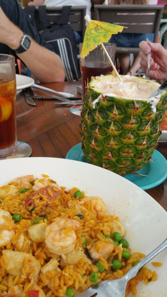 Seafood was good and drinks were great. Even better when they were in a pineapple!
