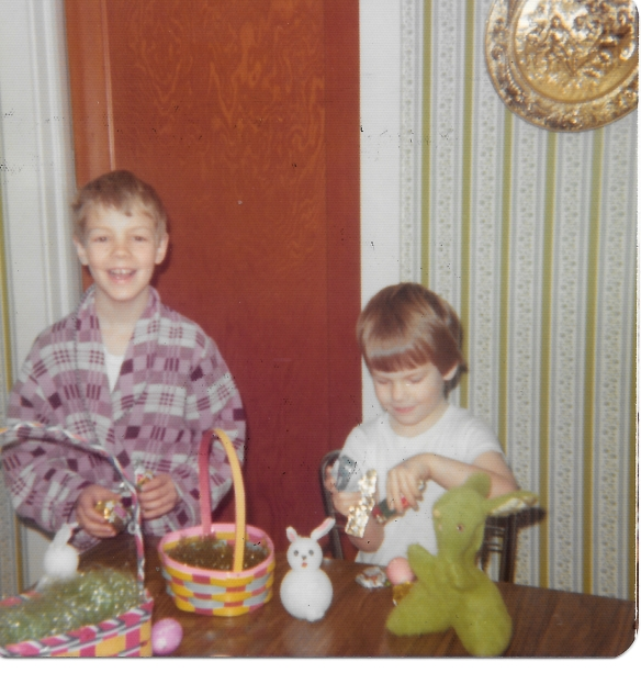 Eklund Mike and Mark 1974 Easter Carthage NY