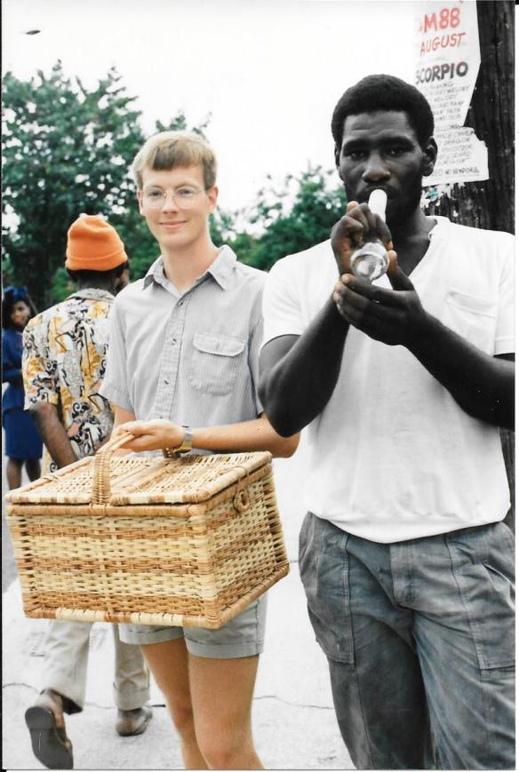 Coke bottle player Jamaica 1988
