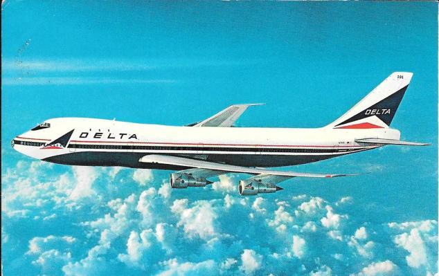 Delta plane card front