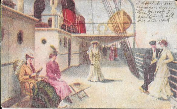 ship postcard front