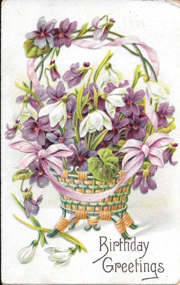 Violet postcard front