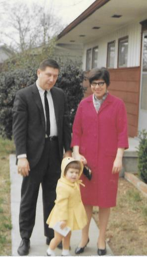 Sidney, Sylvia, and Mary Louise Bright about 1968 Chattanooga Tennesse